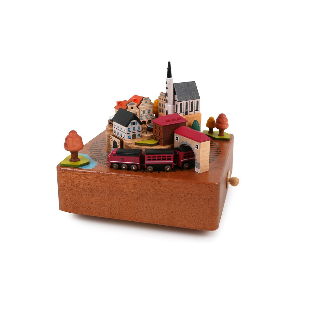 Caja musical regalo Tren Otoño Caja 17x18x18