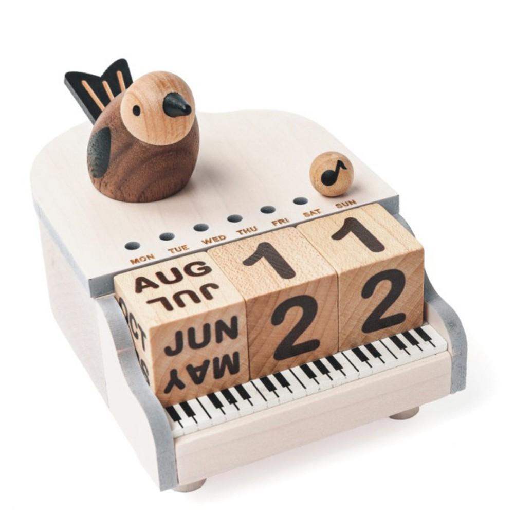 Bird piano calendar caja
