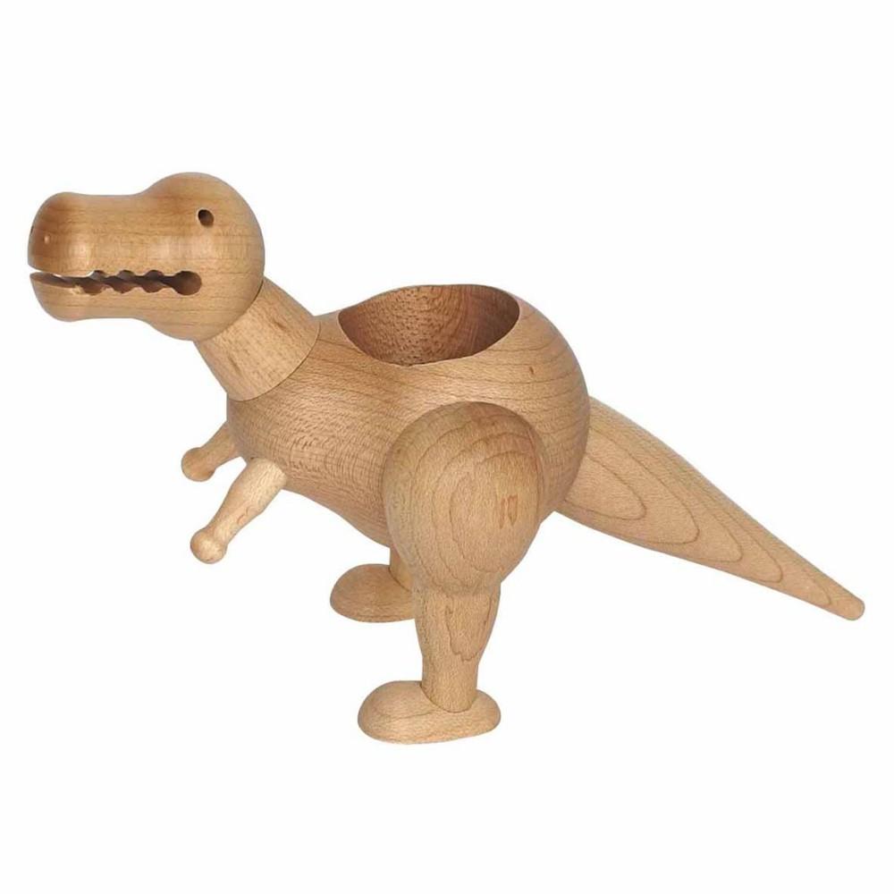 Macetero de madera tiranosaurio con smartpot