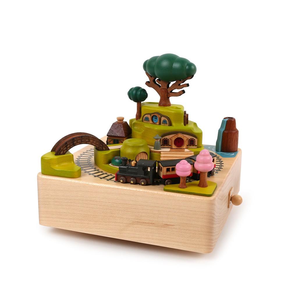 Caja musical madera regalo Tren