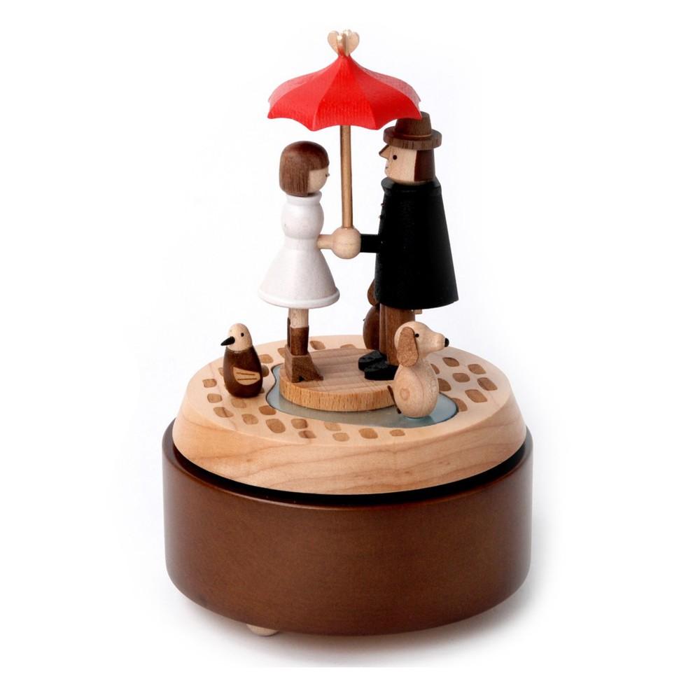 Caja musical madera regalo sombrilla Caja: 18x12x12 cm
