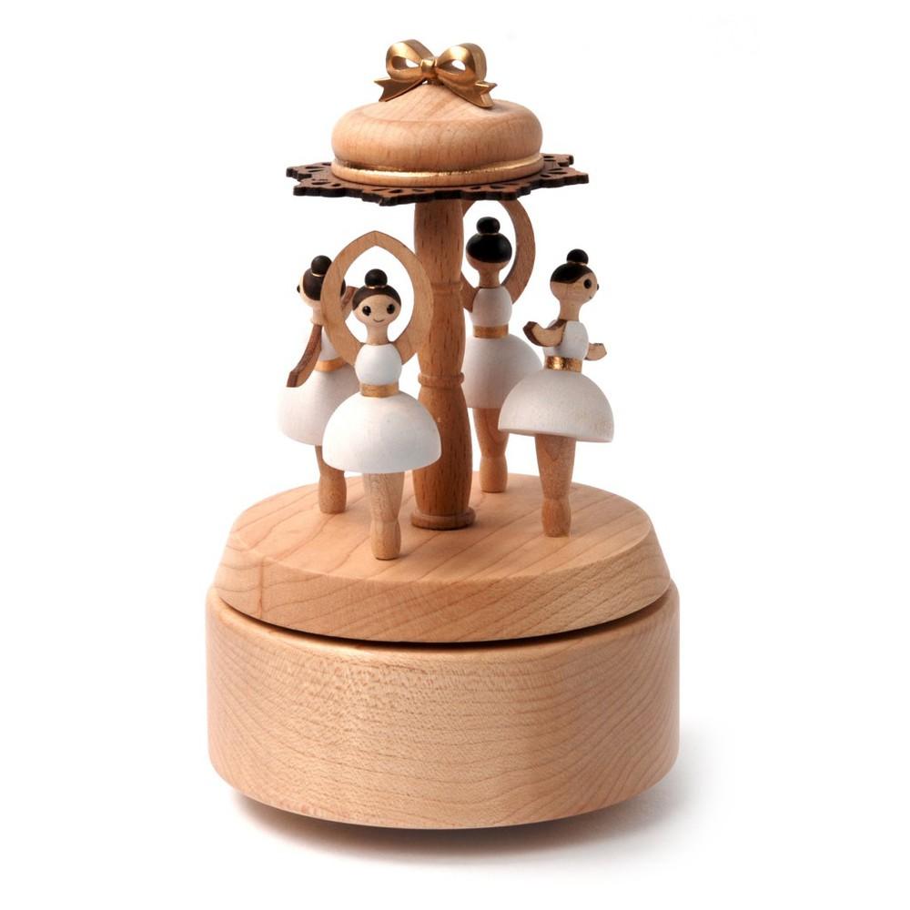 Caja musical madera regalo bailarinas