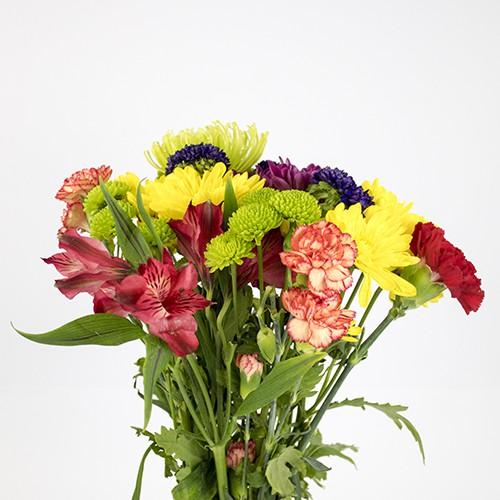 Bouquet surtido capuchón celofán y papel de color