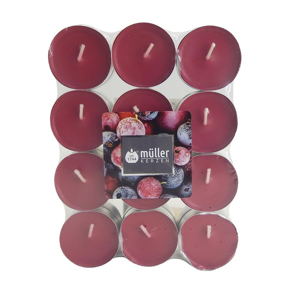 Tealight aromático frutos rojos 24 u