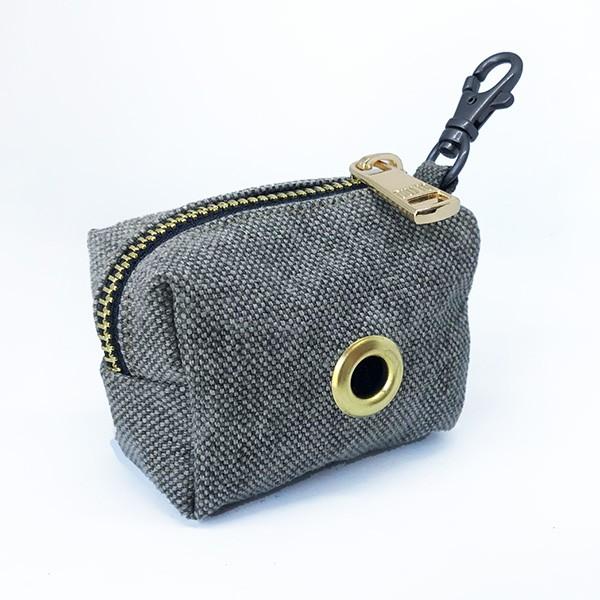 Porta bolsas gris claro