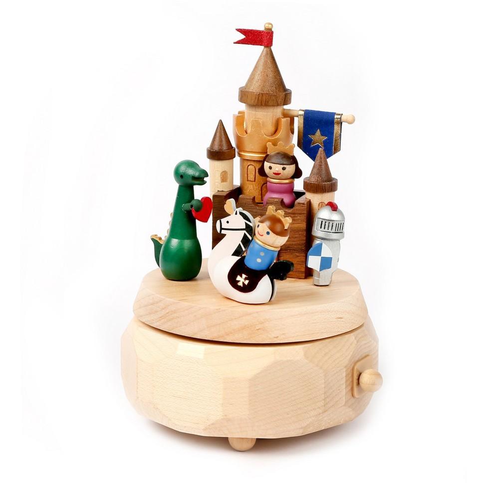 Caja musical madera regalo castillo aventura