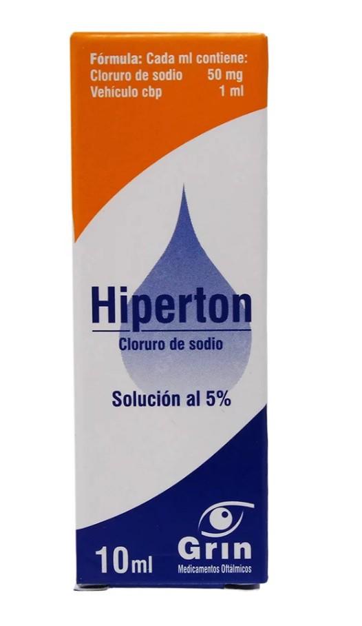 Hiperton 5% solución oftálmica