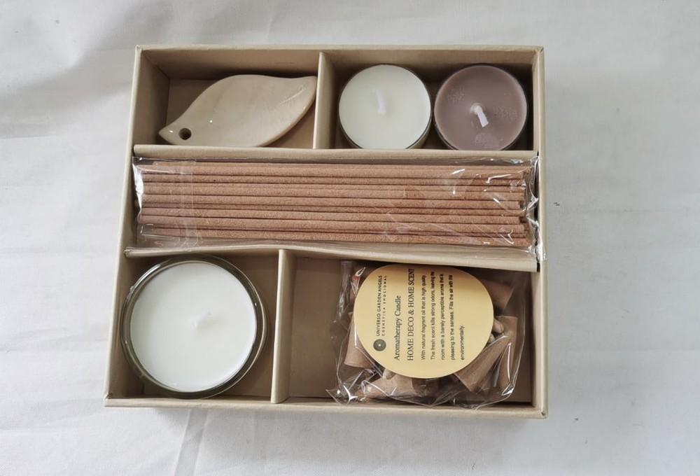 Set aromatico velas e incienso mediano 1 Unid