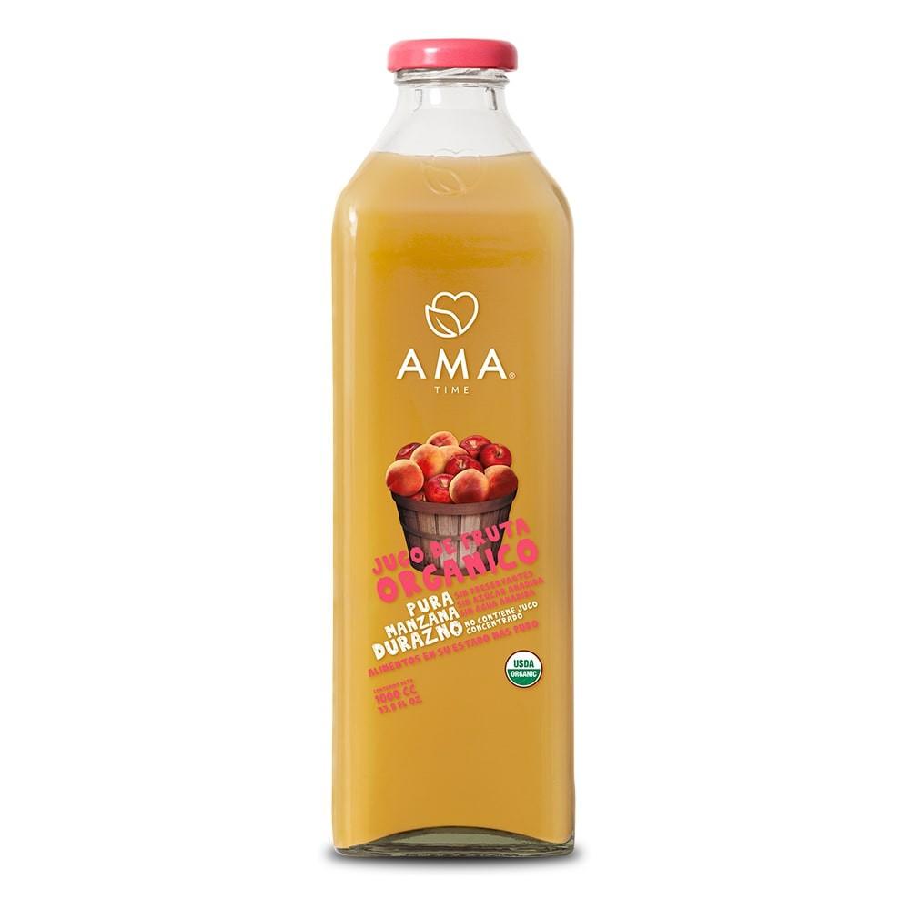 Jugo de manzana y durazno orgánico