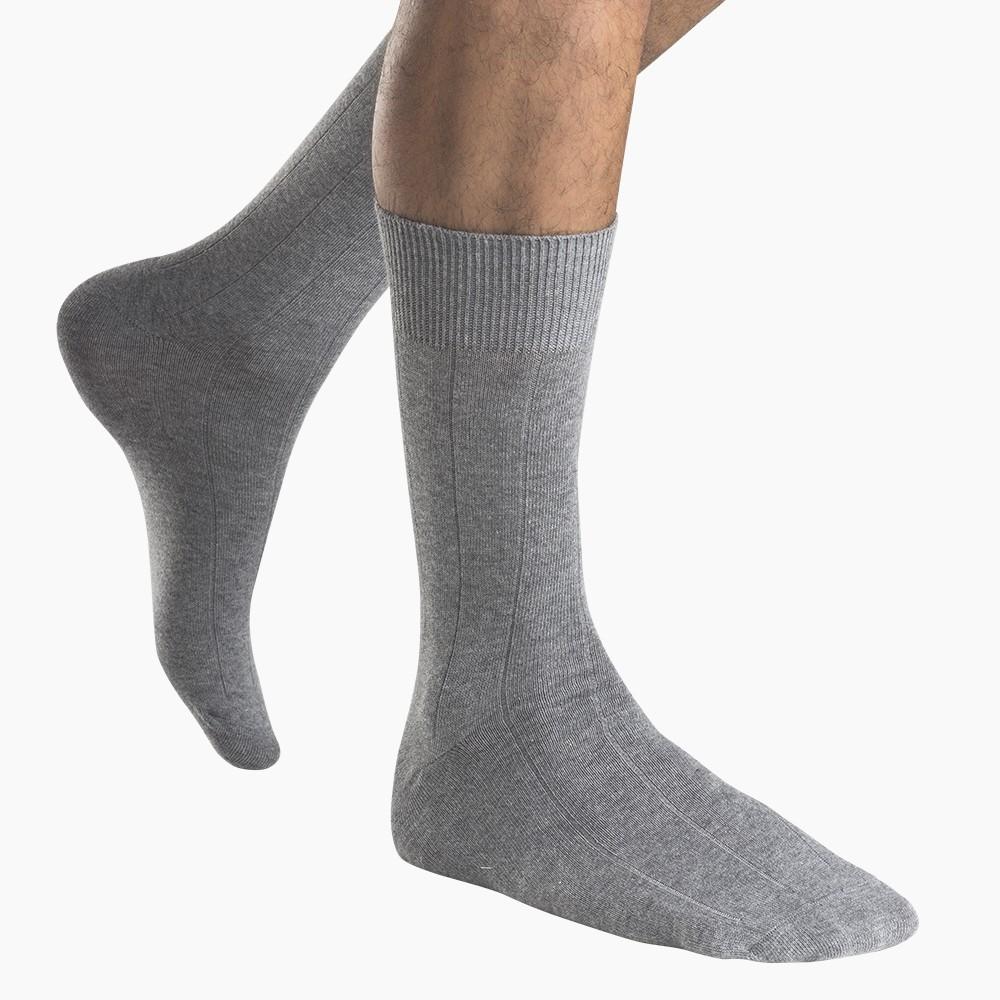 Calcetín algodón pack 2 MT21064 gris