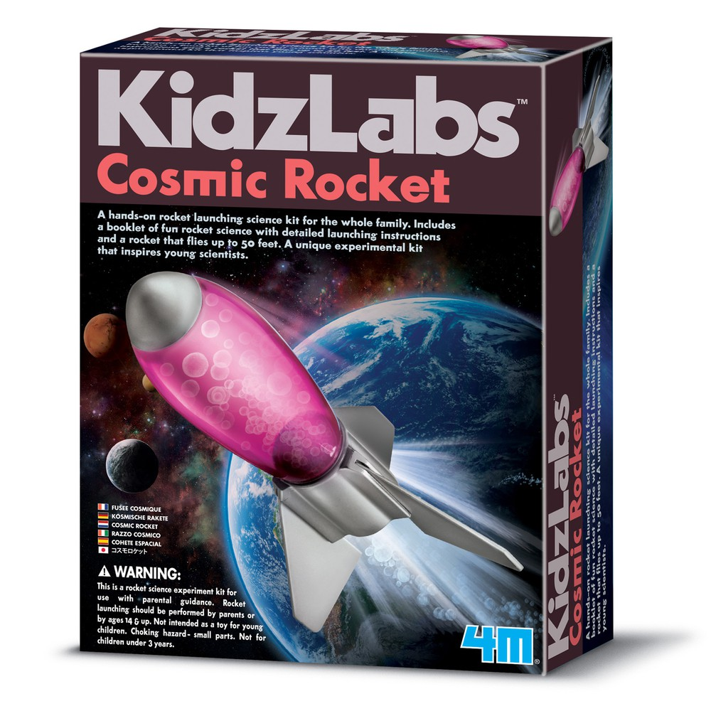 Cohete espacial - kidzlabs Tamaño:  21x16 cm aprox