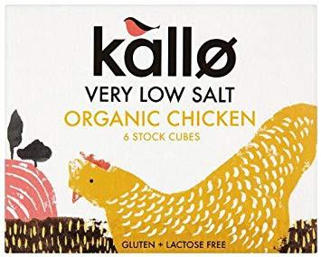Organic chicken 6 cubos x 11 gr. libres de Gluten y lactose free