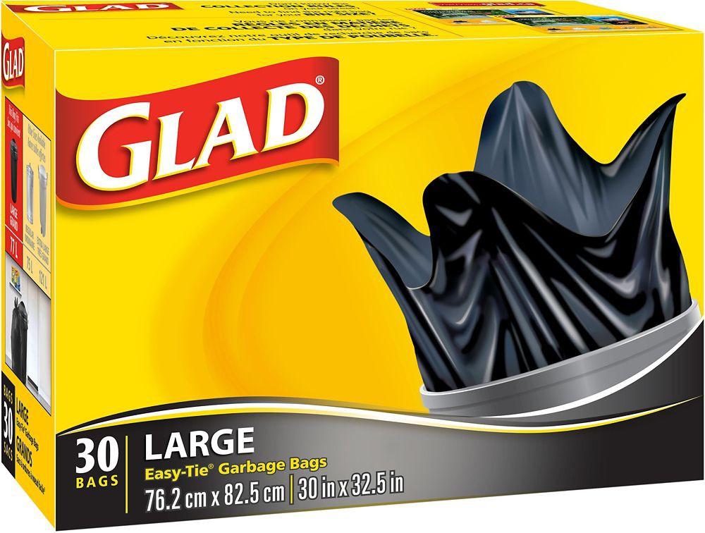 Easy-tie garbage bags 30 units