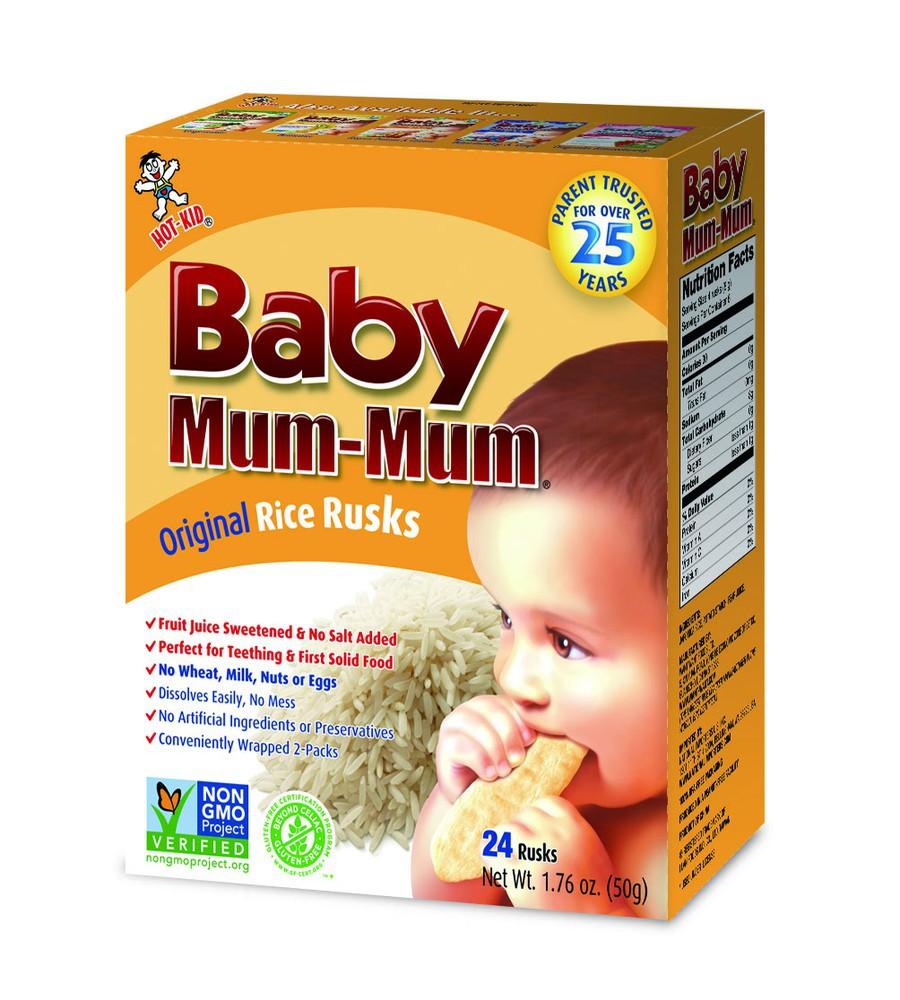 Galleta de arroz para bebé sabor original 50 g