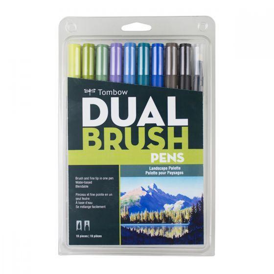 Set marcadores dual brush 10 colores paisaje