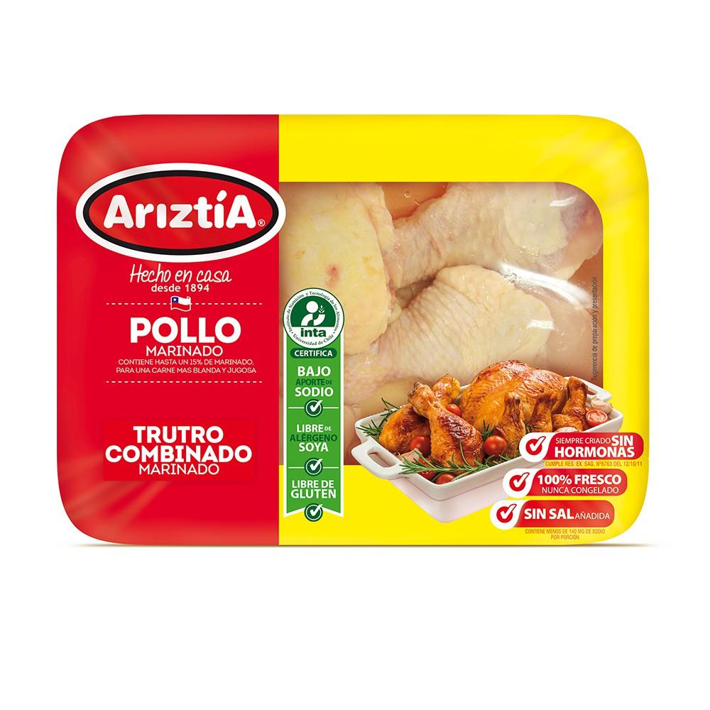 Trutro combinado de pollo marinado