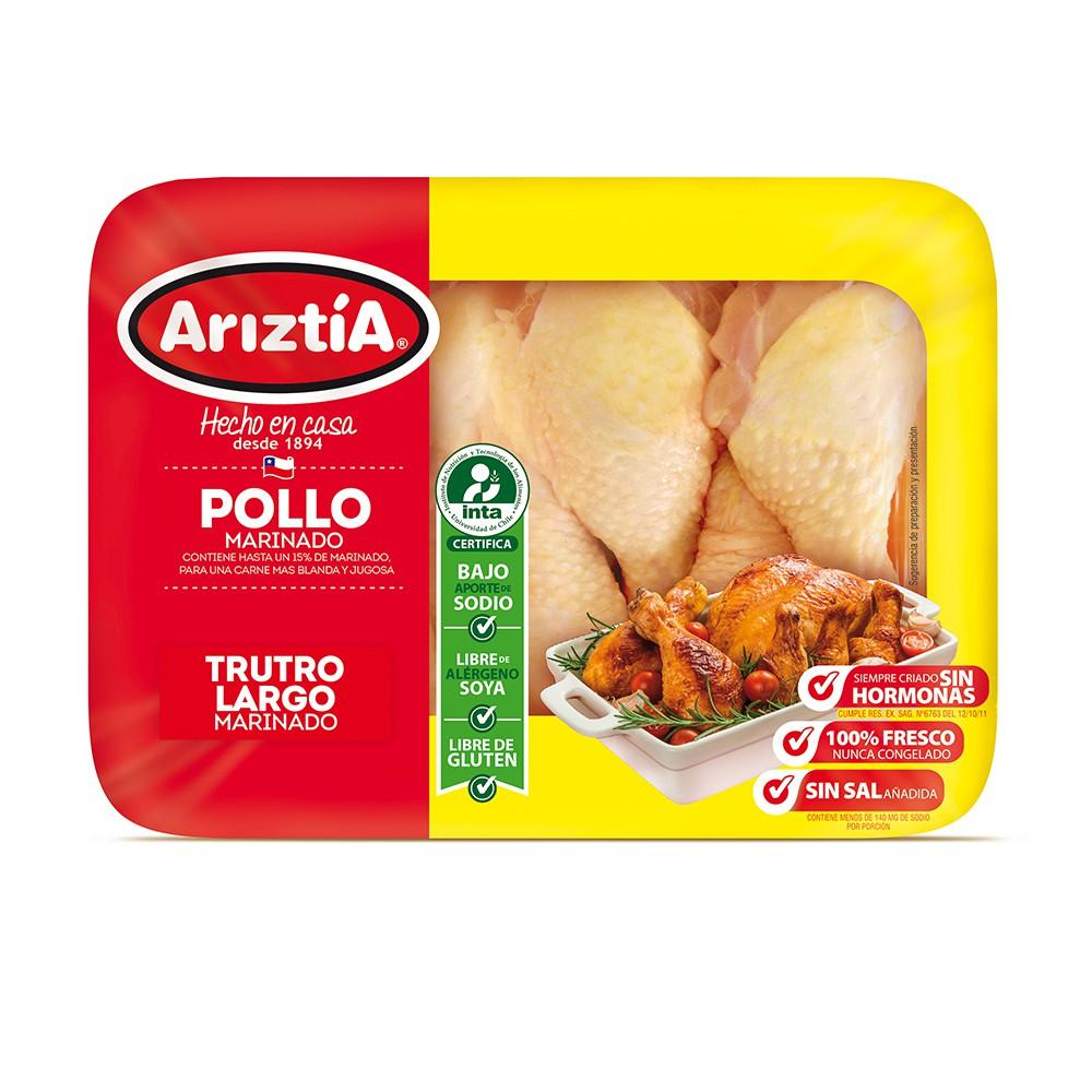 Trutro largo de pollo marinado