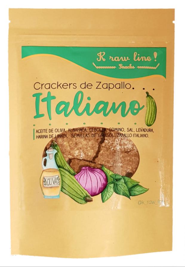 Crackers KETO de Zapallo Italiano (vegano) 75 gr bolsa de 75 gr