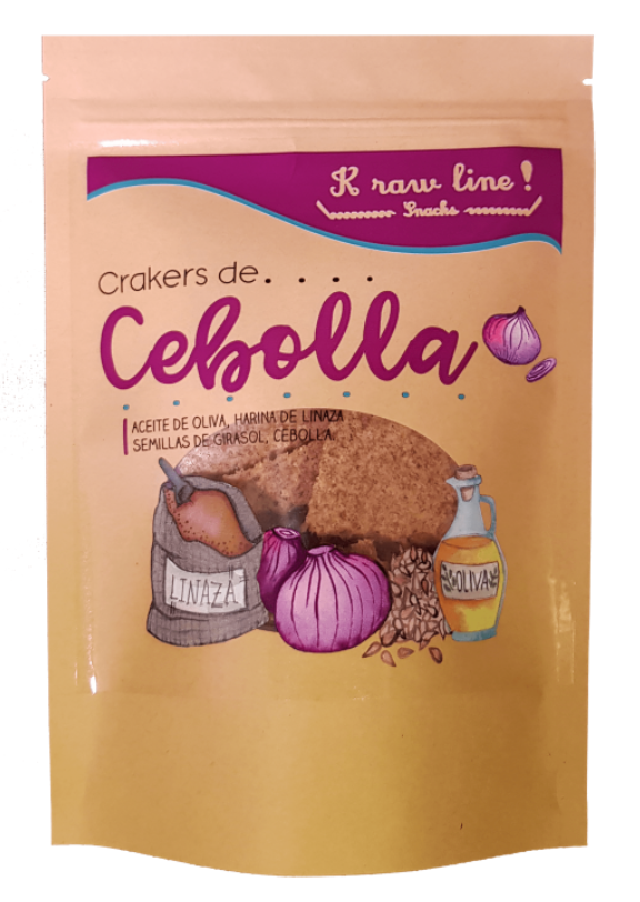 Crackers KETO de Cebolla (vegano) 75 gr Bolsa de 75 gr
