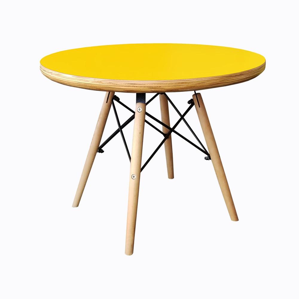 Mesa eames niño replica amarilla 60cms