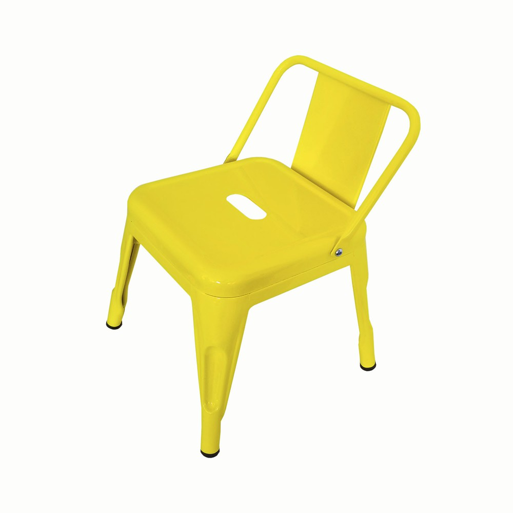 Silla tolix niño amarilla 31x31x48