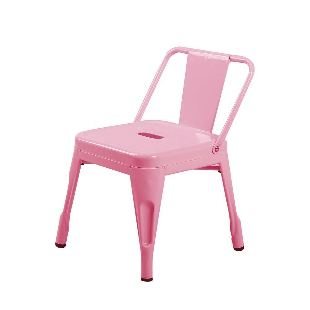 Silla tolix niño rosada 31x31x48