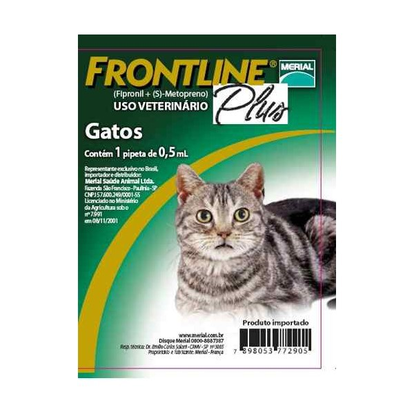 Frontline plus para gatos