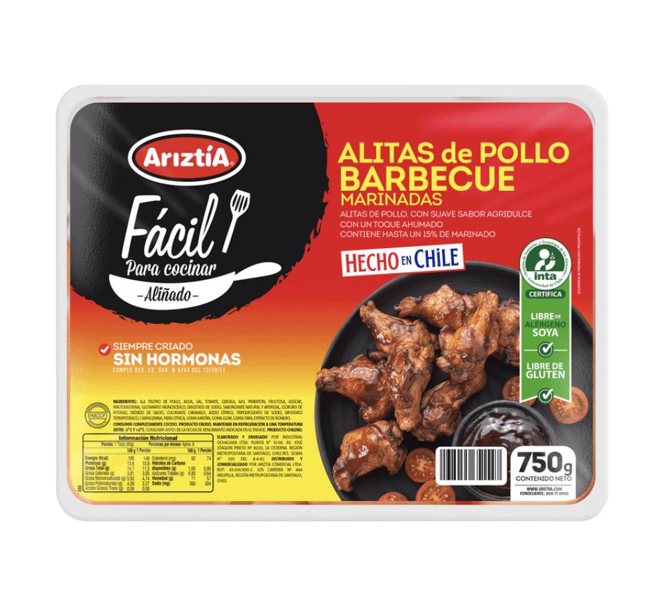 Alitas de pollo barbecue marinadas
