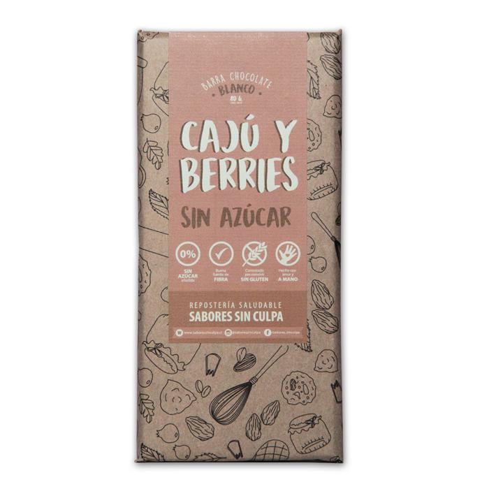 Chocolate cajú sin gluten y sin azúcar