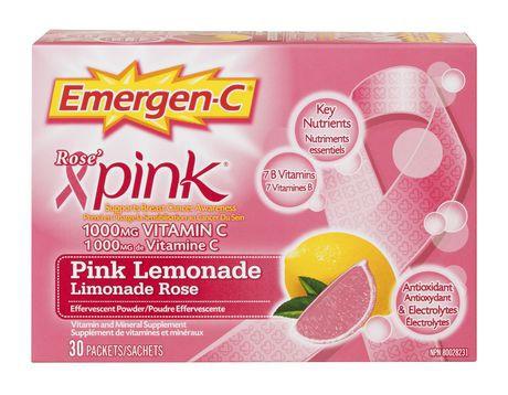 Emergen-C® Pink Lemonade 1000mg Vitamin C / Electrolytes / B Vitamins Mineral Supplement Powder
