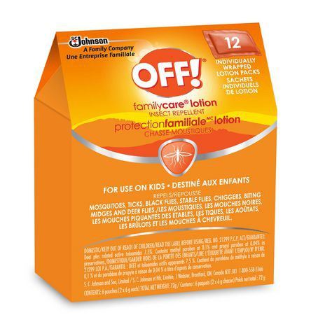 Off! Familycare Insect Repellent Lotion Pouches
