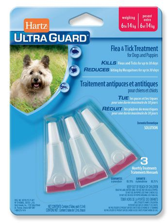 Hartz Ultraguard Flea & Tick Treatment for Dogs And Puppies 6 to 14 Kg