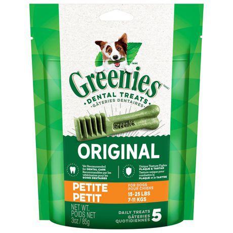 GREENIES Dental Dog Treats Petite 3oz - Original 3oz, Dog Treat