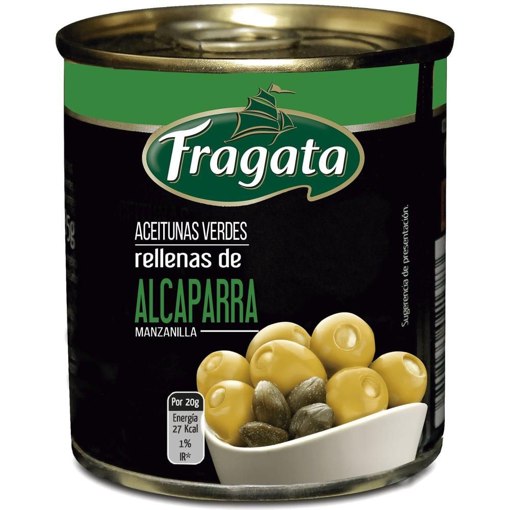 Aceitunas verdes rellenas con alcaparras