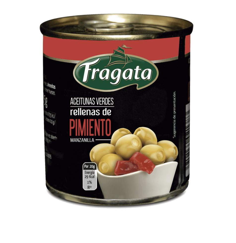 Aceitunas verdes rellenas de pimiento Lata 200 g