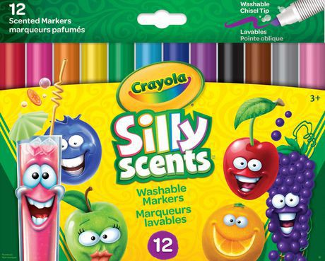 Crayola Silly Scents Washable Chisel Tip Markers Walmart