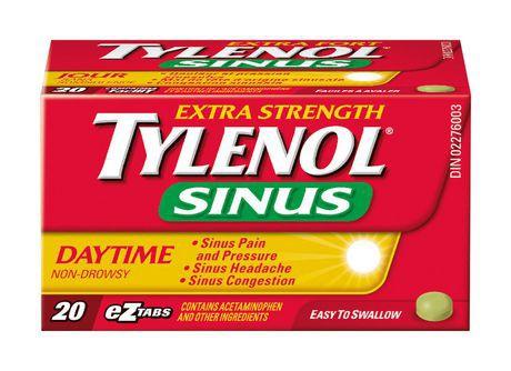 Tylenol® Extra Strength Sinus Daytime EZTABS®, 20 Count