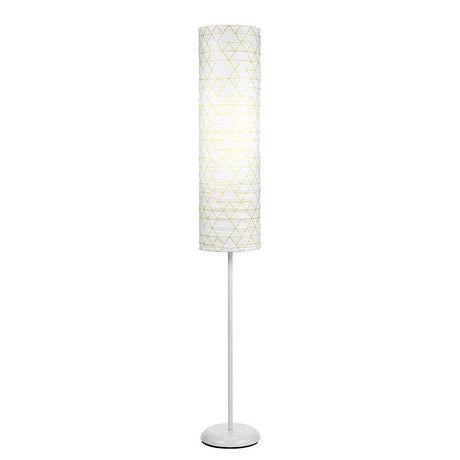 Geo Pattern Paper Shade Floor Lamp
