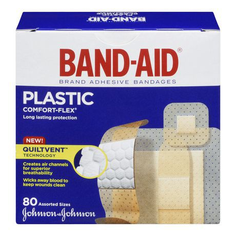COMFORT-FLEX® Plastic Bandages 80 Count, Assorted Sizes