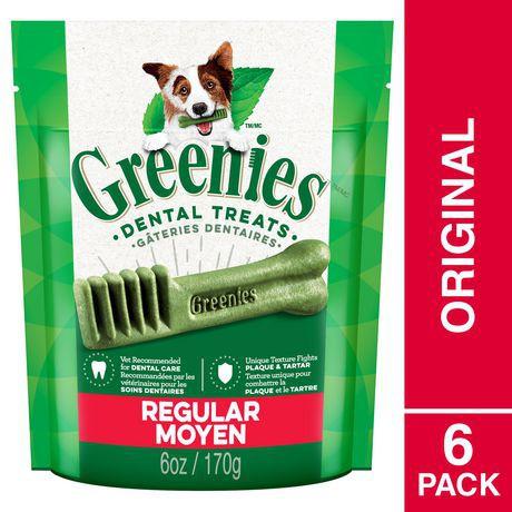 GREENIES Dental Dog Treats Regular 6oz - Original 6oz, Dog Treat