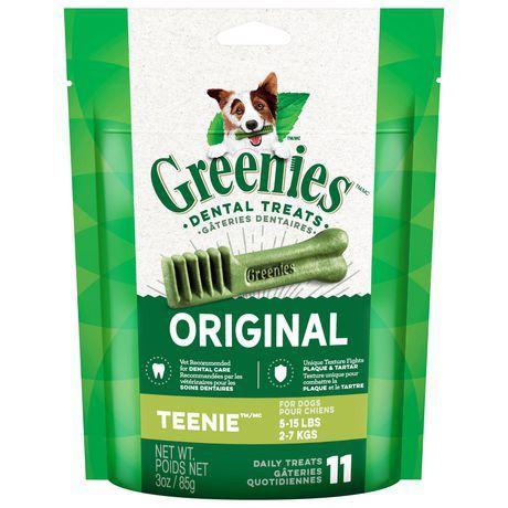 GREENIES Dental Dog Treats Teenie 3oz - Original