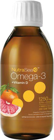 Nature's Way NutraSea +Vitamin D Omega 3 Grapefruit Tangerine Liquid