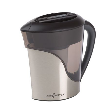 Zerowater 8 Cup Stainless Steel Pitcher With Free Tds Meter