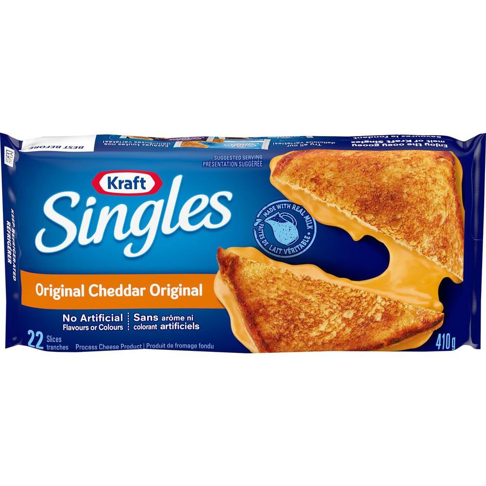 Singles original cheddar slices