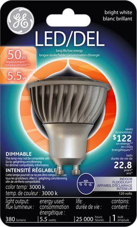General Electric Led Gu10 5 5 Watts Bright White Bulb Pack