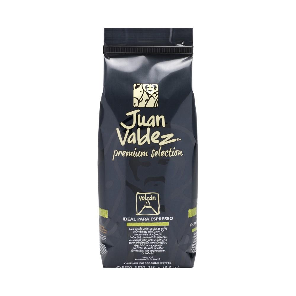 Café grano molido fuerte volcán