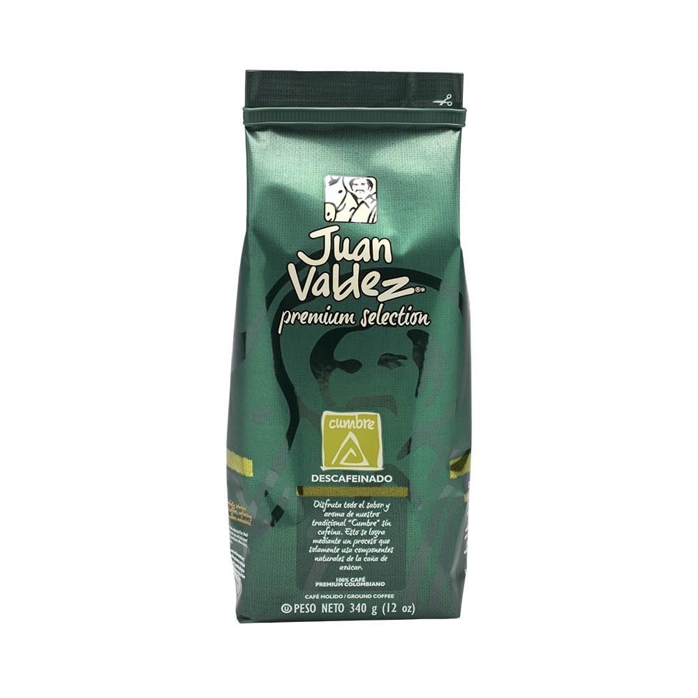 Café grano molido descafeinado cumbre