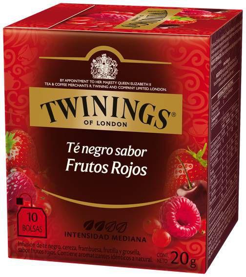 Té negro cuatro frutos rojos 10 unidades