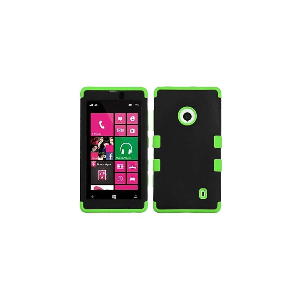 Insten Rubberized TUFF Hybrid Phone Protector Case For Nokia Lumia