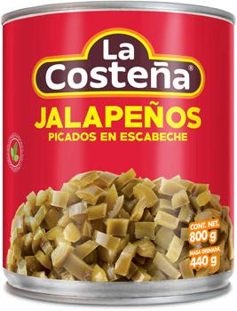 Chiles jalapeños picados